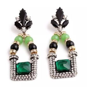 Green Pleasantry Sophisticated Stylish Earrings